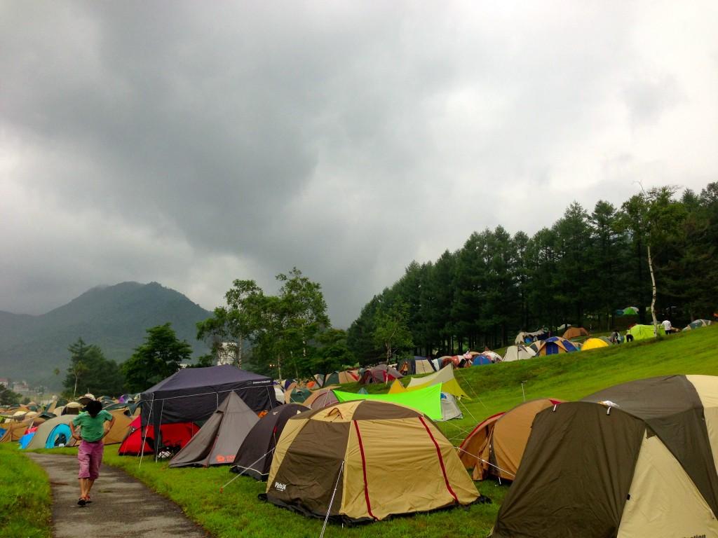 フジロックキャンプサイト
